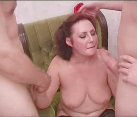 Amateur Blowjob Chubby Handjob Mature Mom Old and Young Russian  Threesome