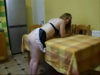 Amateur Ass Kitchen Maid