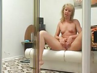 A fun striptease and pussy play with a milf tubes
