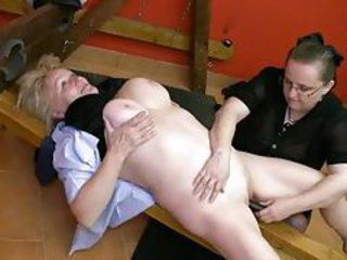 Kinky mature loves submission in the dungeon tubes