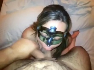 Renata the masked whore facialed