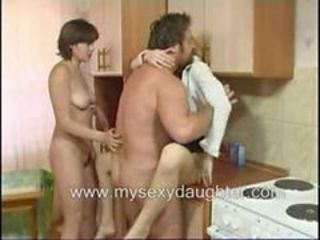 "Daughter And Her Blonde Friend Loves Threesome With F..."" target=""_blank"