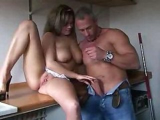 "German Pussy Fucking In Kitchen Big Tits"" target=""_blank"