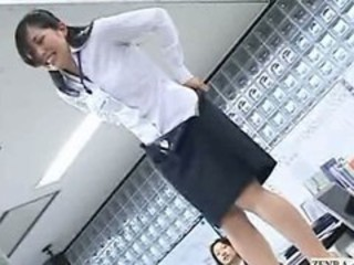 "New Japanese female employees play rock paper scissors strip"" target=""_blank"