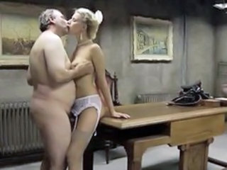Slim&busty Blonde Girl Fucks An Old...