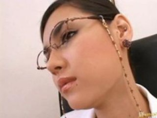 Asian Babe Cute Glasses Japanese Pornstar