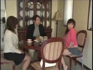 Asian Daughter Family Japanese Mom Old and Young Teen