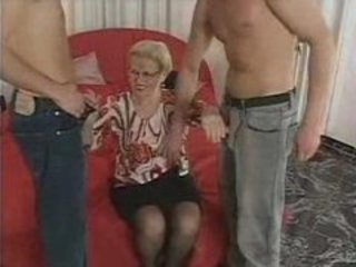 Glasses Handjob Mature Threesome