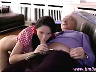 Older guy younger girl fingering blowjob