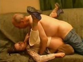 "Nasty bald old man is mauling innocent pretty girl with such eagerness"" target=""_blank"
