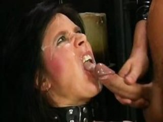 "Hardball man pisses down into dirty prostitute's throat right before getting powerful orgasm"" target=""_blank"
