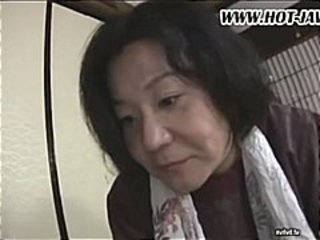 Japanese wife sucks on his cock, gets fucked and sucks again