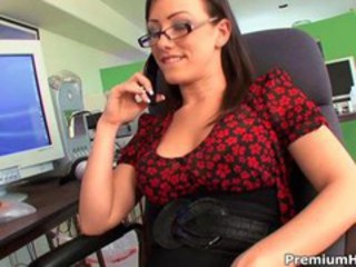 Cute Glasses  Office Secretary