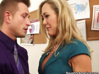 Blonde  Office Old and Young Pornstar Secretary