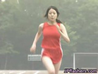 Asian amateur in nude track and field part1