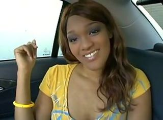 Amateur Car Cute Ebony Teen