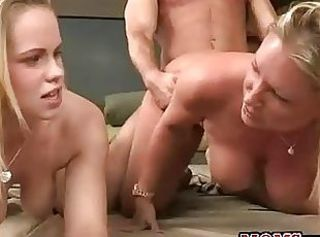 Daughter Doggystyle Family  Mom Old and Young Pornstar Teen Threesome