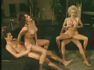 Retro group sex with a cumshot facial tubes