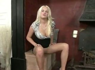 Amazing Blonde  Pantyhose Solo