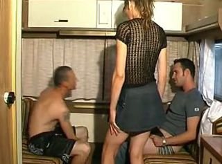 French Mature Skirt Threesome