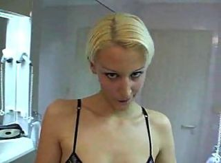 Blonde whore gangbanged and DPed hard till cumshot getting.