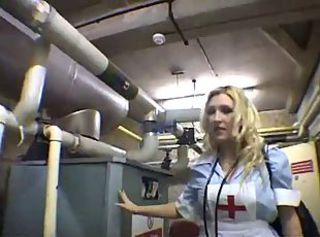 Blonde British European Nurse Teen Uniform