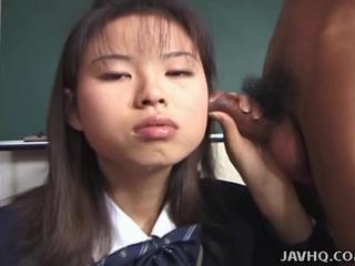 Asian Handjob Japanese School Small cock Student Teen Uniform