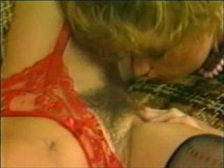 Hairy Lingerie Licking Vintage