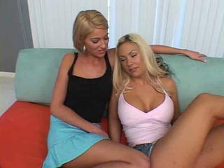 Blond horny girls