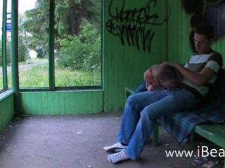 Blowjob Clothed Girlfriend Outdoor Public