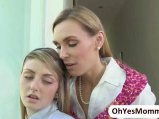 Naughty piano bus Tanya Tate seduces sexy teen Staci