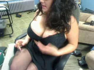 Big Tits  Natural Smoking Stockings