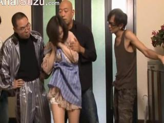 Asian Cuckold Gangbang  Wife