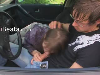 Blowjob Car Clothed European Teen