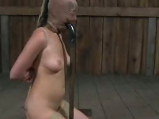 Slut Ball-gagged in Mud