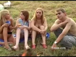 Amateur Outdoor Party Teen