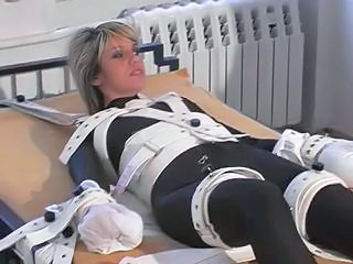 Girl In Bondage Bed, Cuffs And Shackles Sex Tubes