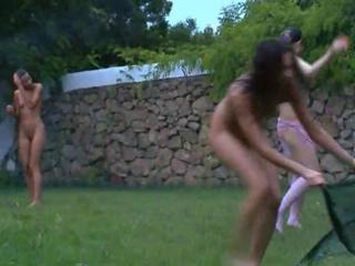 Russian girls watersports in the garden Sex Tubes