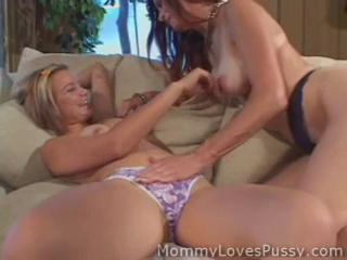 Daughter Lesbian  Mom Old and Young Panty Teen