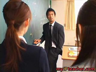 Asian Japanese School Student Teacher