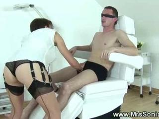 Domina ties up her slave to a denstists chair Sex Tubes