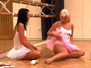 Two Abstain Ballerina Carrying-on With Dildos?s=9