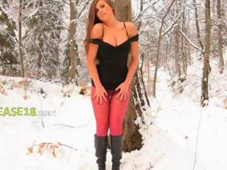 Outdoor Pantyhose Russian Teen