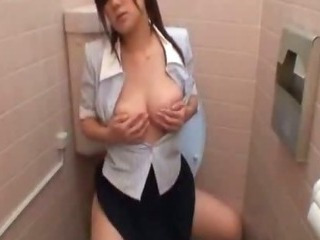 Restroom office ladies onanism