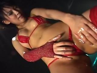 Asian Babe Bikini Dancing Oiled