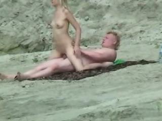Beach Nudist Outdoor Riding Teen Voyeur