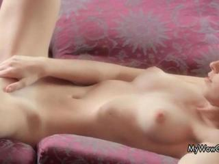 Masturbating Shaved Skinny Teen