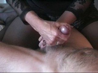 Britt giving handjob, the complition !!