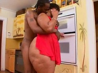 BBW Ebony Kitchen MILF