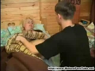 Young Old egg Fucks Her Slumberous Russan Mature Mother